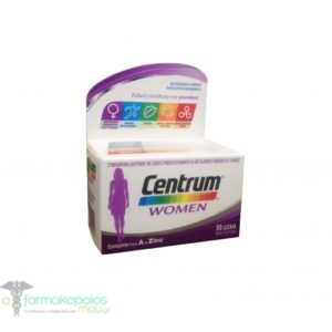 Centrum Women Complete form A to Zinc, 30 tabs